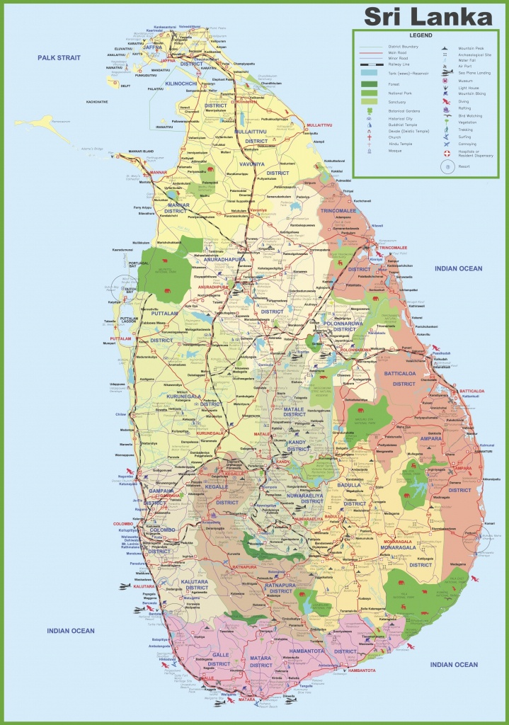 Tourist Map Of Sri Lanka - Printable Map Of Sri Lanka