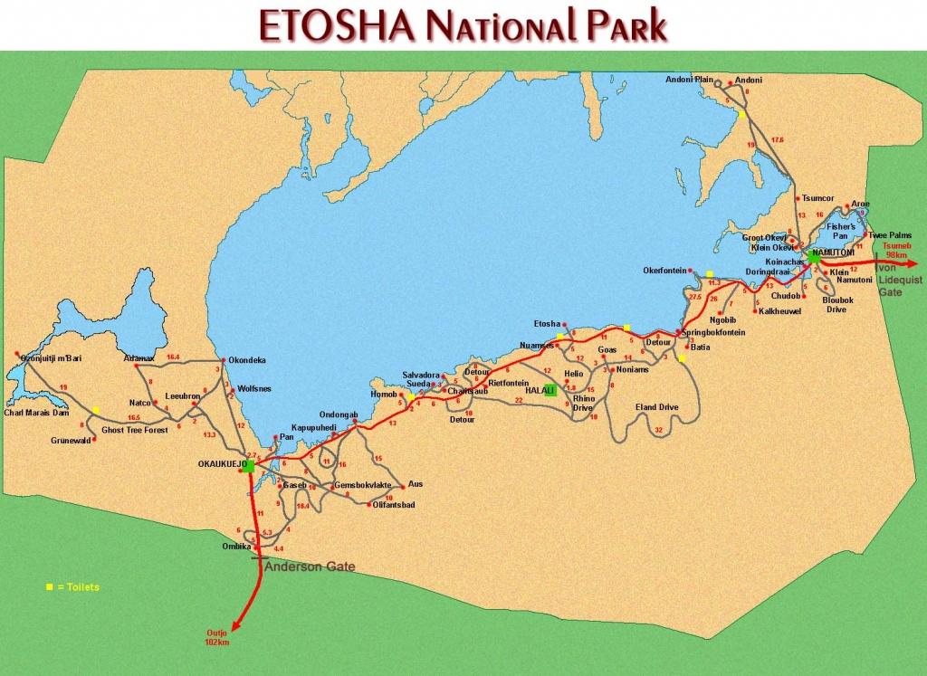 Tourist Maps Of Namibia - Printable Road Map Of Namibia