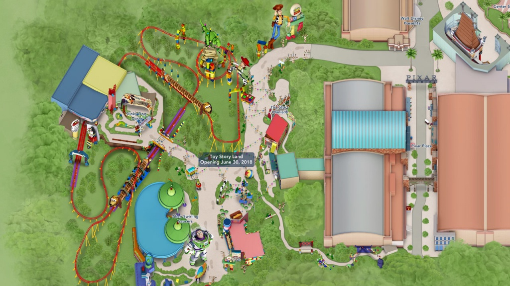 Toy Story Land Digital Maps Debut Online | Disney Parks Blog - Toy Story Land Florida Map