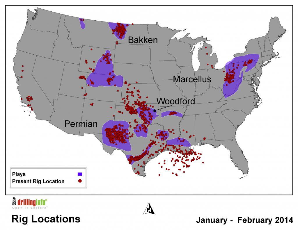 Tracking The Drilling Rig Feeding Frenzy - Texas Rig Count Map