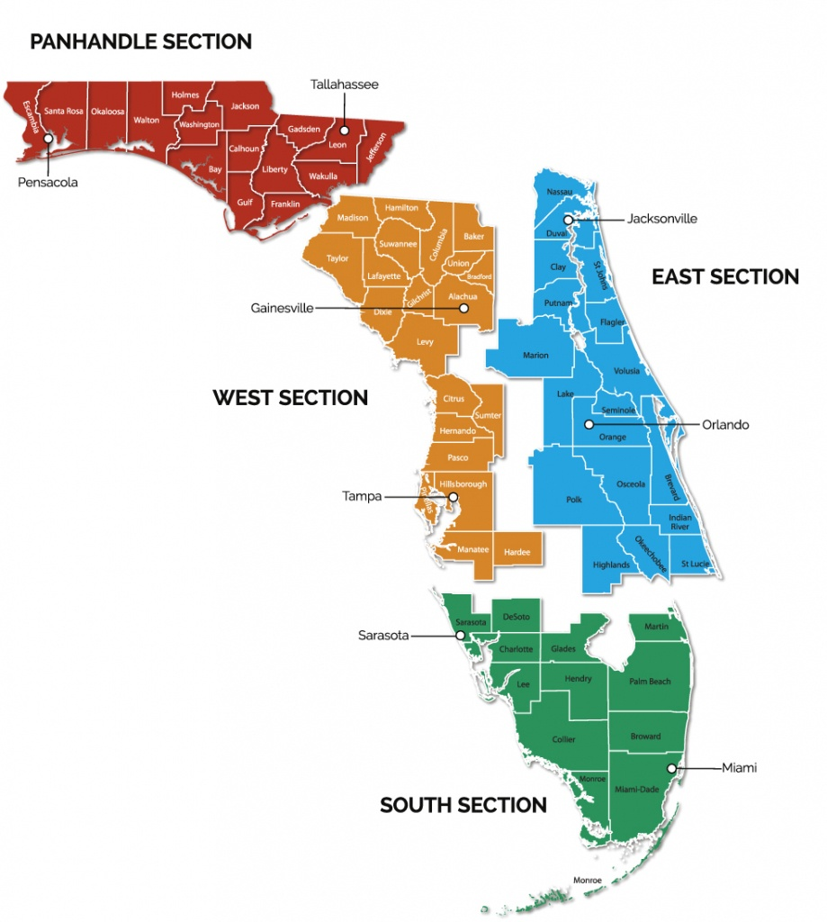 Trail Sections | Gfbwt - Florida Section Map