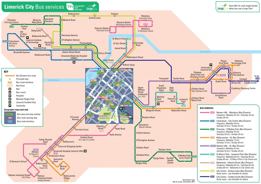 Transport For Ireland - Maps Of Public Transport Services - - Cork City Map Printable