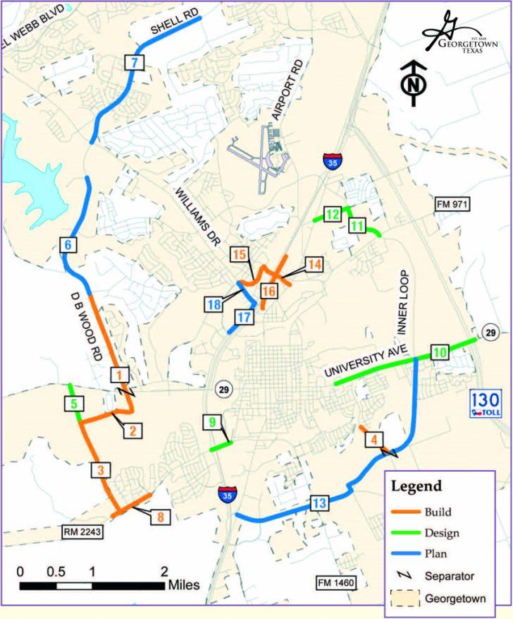 Georgetown Texas Map