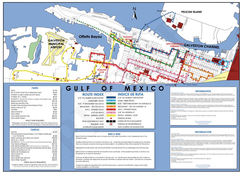 Transportation – Collegetown Galveston - Map Of Hotels In Galveston Texas