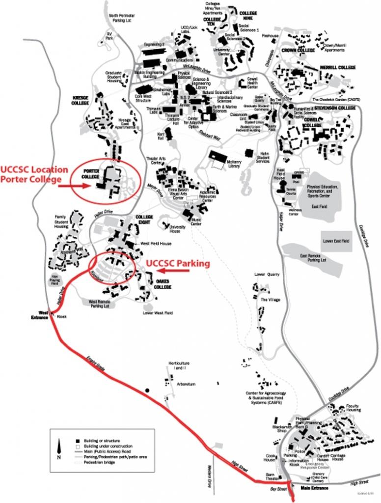 Travel To Campus - University Of California Santa Cruz Campus Map