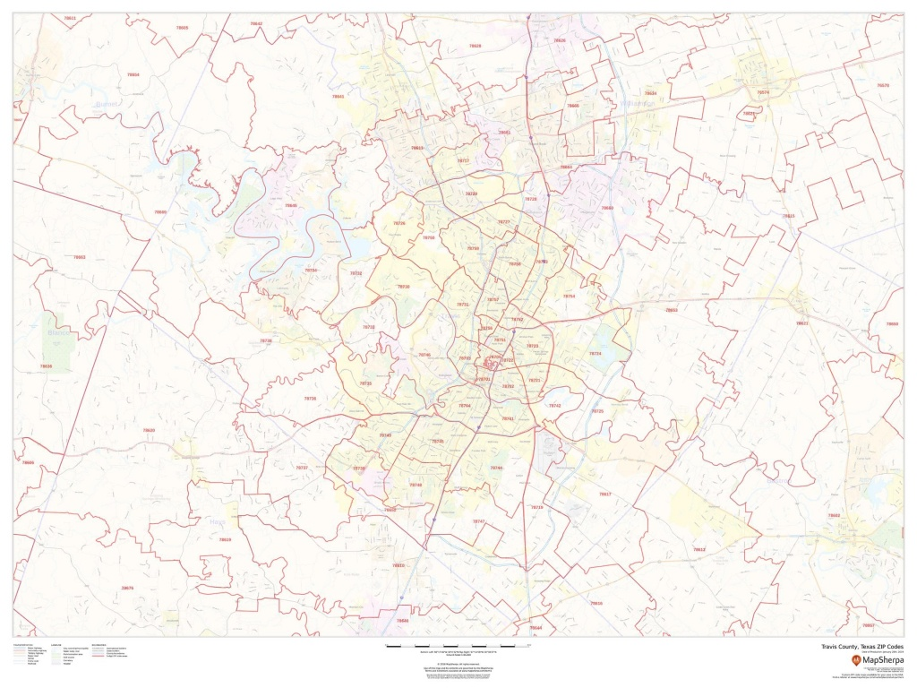 Travis County Zip Code Map - Travis County Texas Map