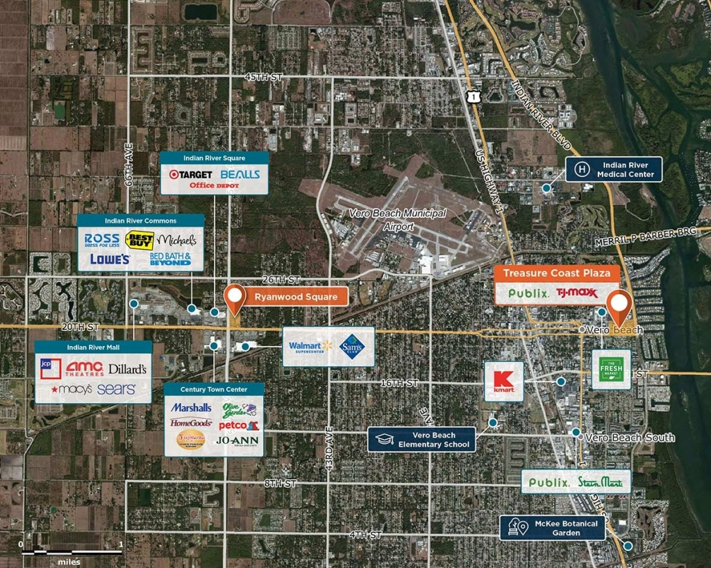 Treasure Coast Plaza, Vero Beach, Fl 32960 – Retail Space   Regency - Treasure Coast Florida Map