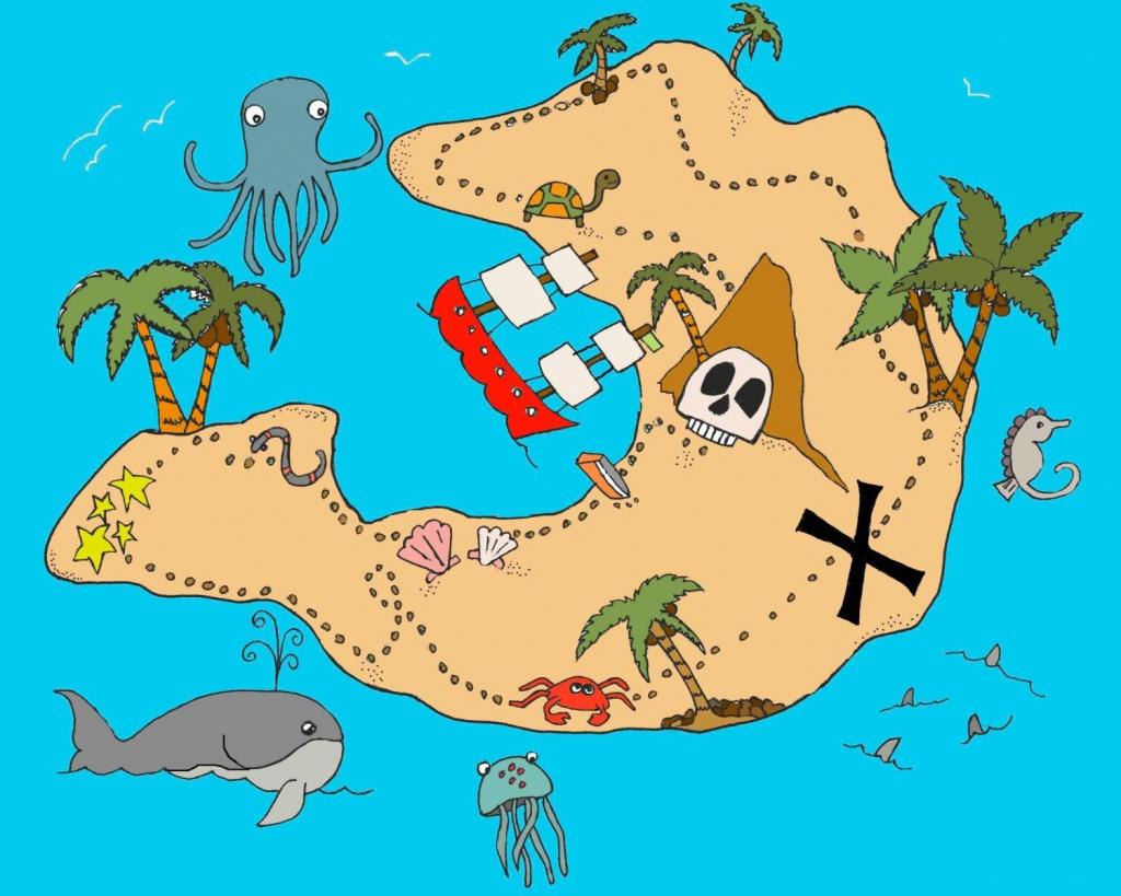 Treasure Map | Baby | Treasure Maps, Pirate Maps, Pirate Treasure Maps - Children's Treasure Map Printable