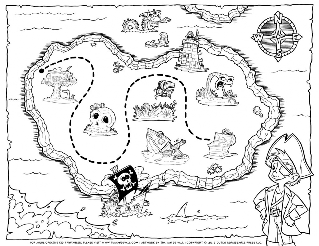Treasure Map Coloring Pages Pirate Treasure Map Coloring Pages Free - Printable Treasure Map Coloring Page