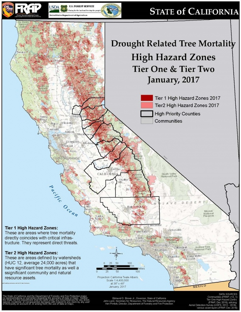 Tree Mortality Maps – Ready For Wildfire - California Fire Zone Map