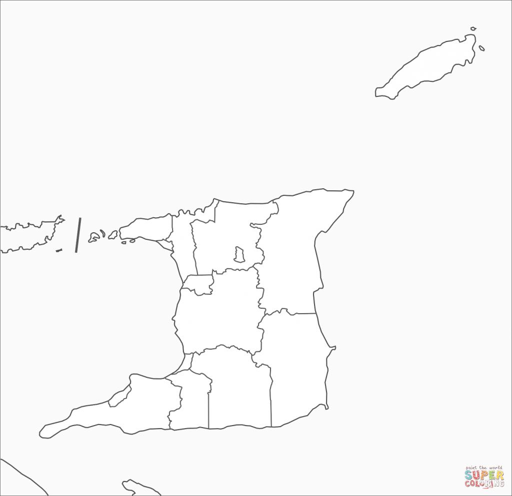 Trinidad And Tobago Map Coloring Page | Free Printable Coloring Pages - Printable Map Of Trinidad And Tobago