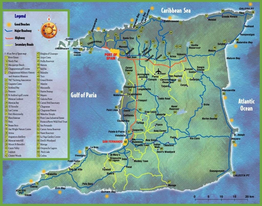 Trinidad Tourist Map - Printable Map Of Trinidad And Tobago