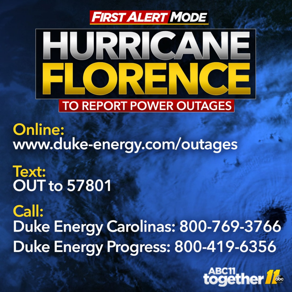 Tropical Storm Florence Power Outages Map: Thousands Without Power - Duke Florida Outage Map