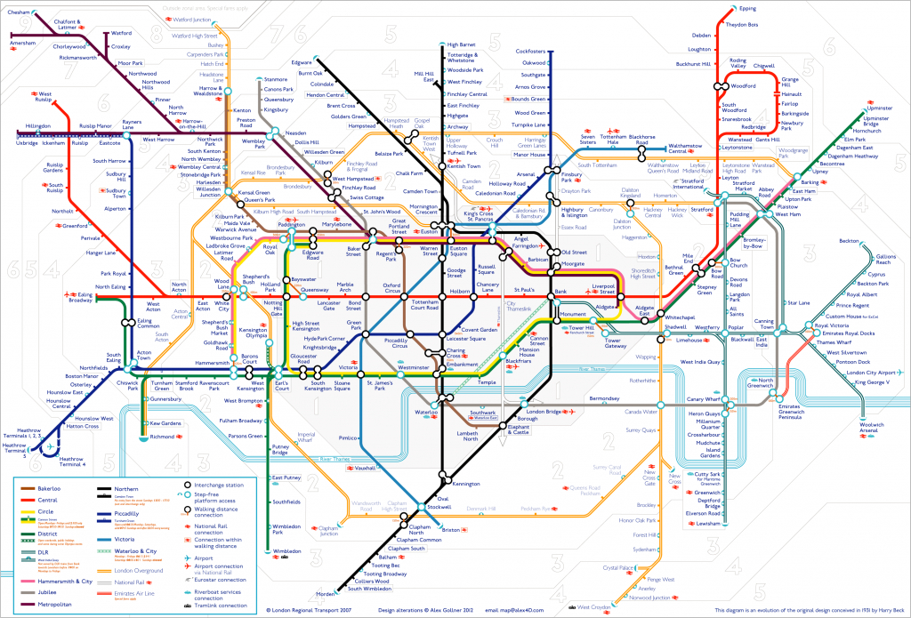 Tube Map | Alex4D Old Blog - London Underground Map Printable A4