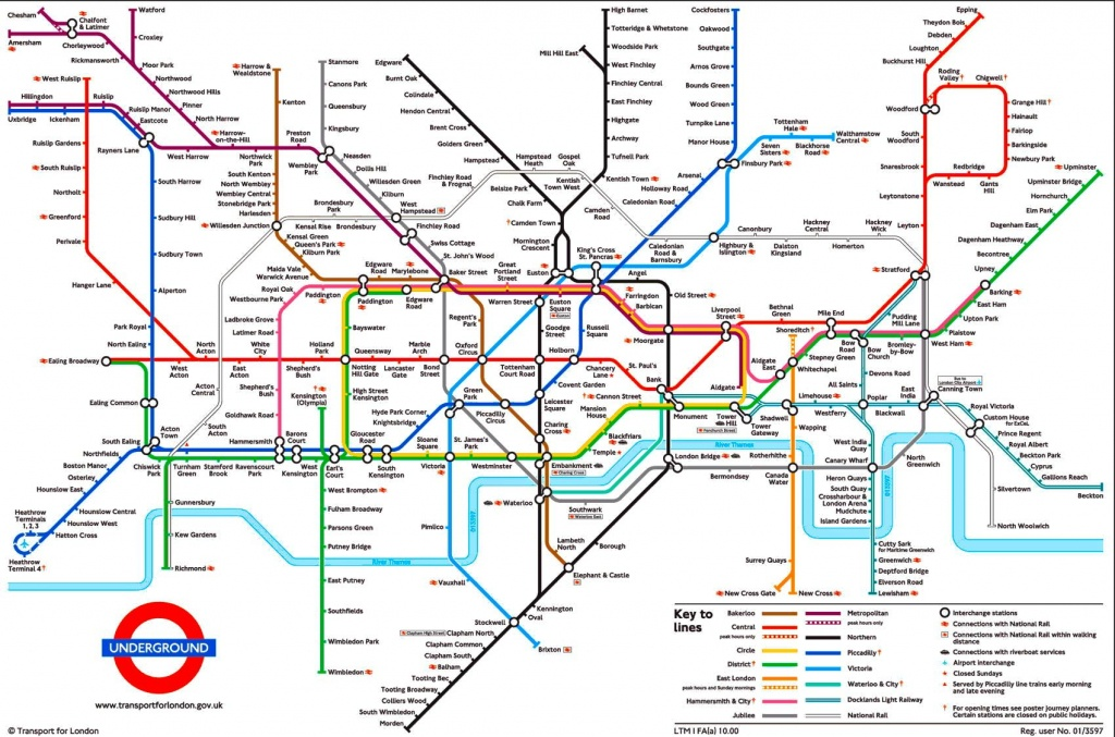 Tube Map, London Underground   L D N In 2019   London Tube Map - Printable London Underground Map
