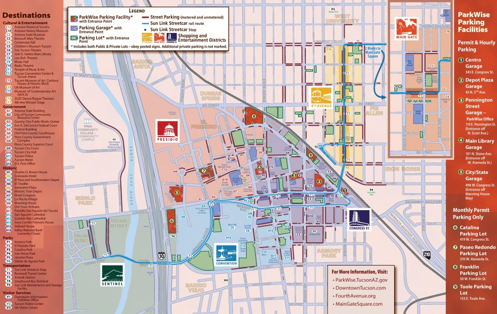 Tucson Maps | Arizona, U.s. | Maps Of Tucson - Printable Map Of Tucson Az