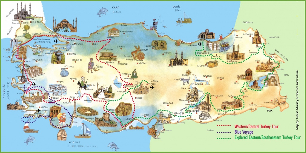 Turkey Attractions Map - Printable Map Of Turkey