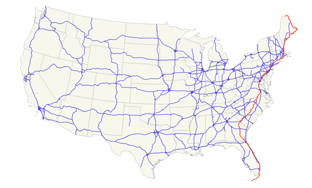 U.s. Route 1 - Wikipedia - Map Of I 95 From Nj To Florida