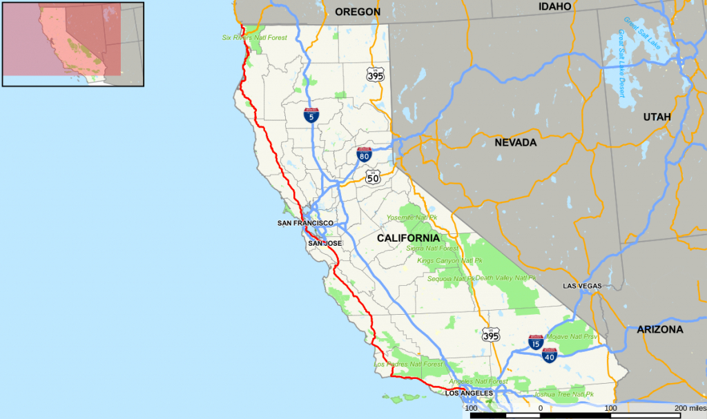 U.s. Route 101 (California) - Wikipedia, La Enciclopedia Libre - Highway 101 California Map