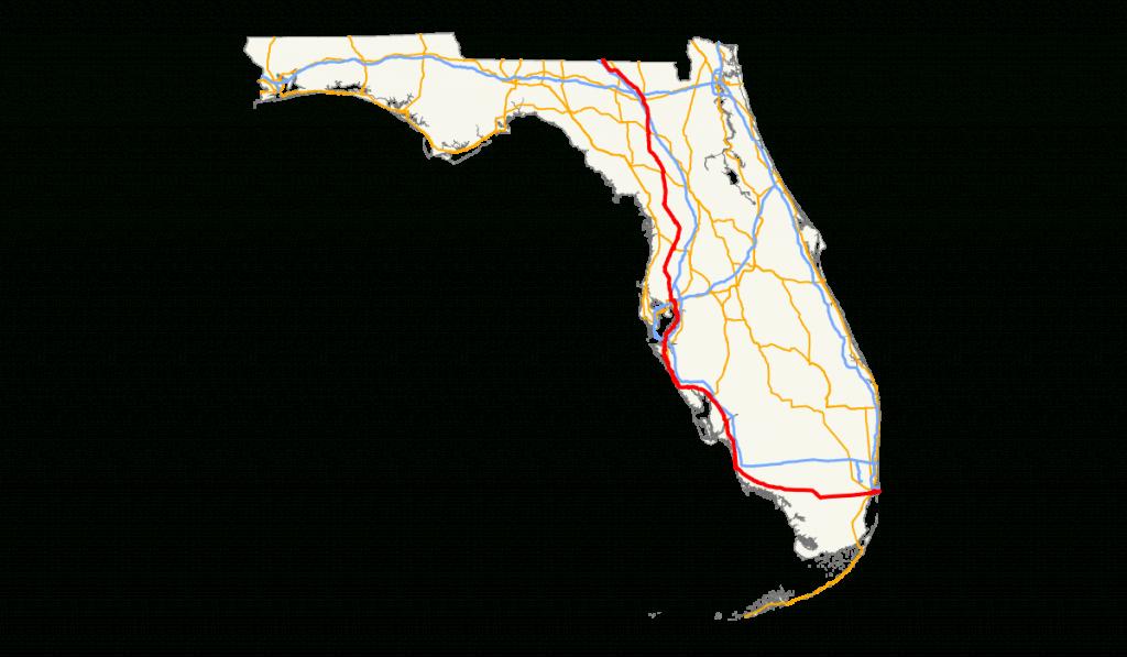 U.s. Route 41 In Florida - Wikipedia - Florida Destinations Map