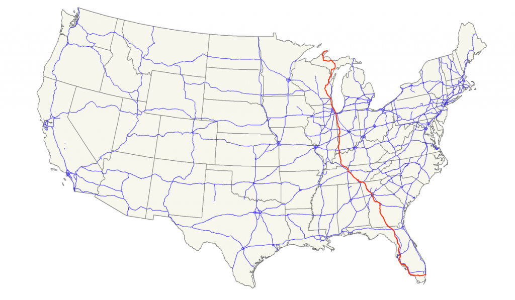 U.s. Route 41 - Wikipedia - Wisconsin To Florida Road Trip Map