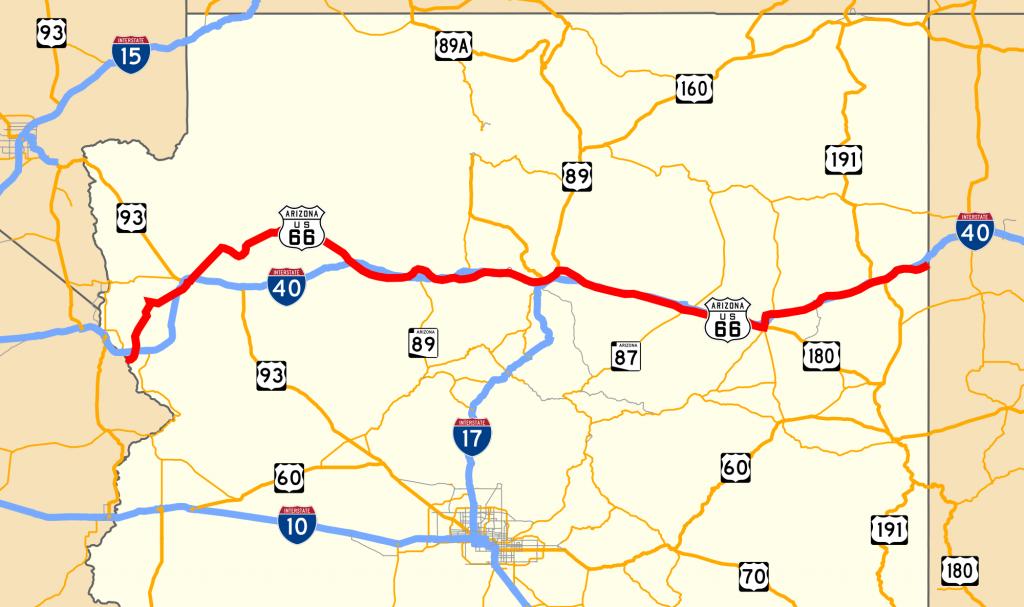 U.s. Route 66 In Arizona - Wikipedia - Route 66 Map California