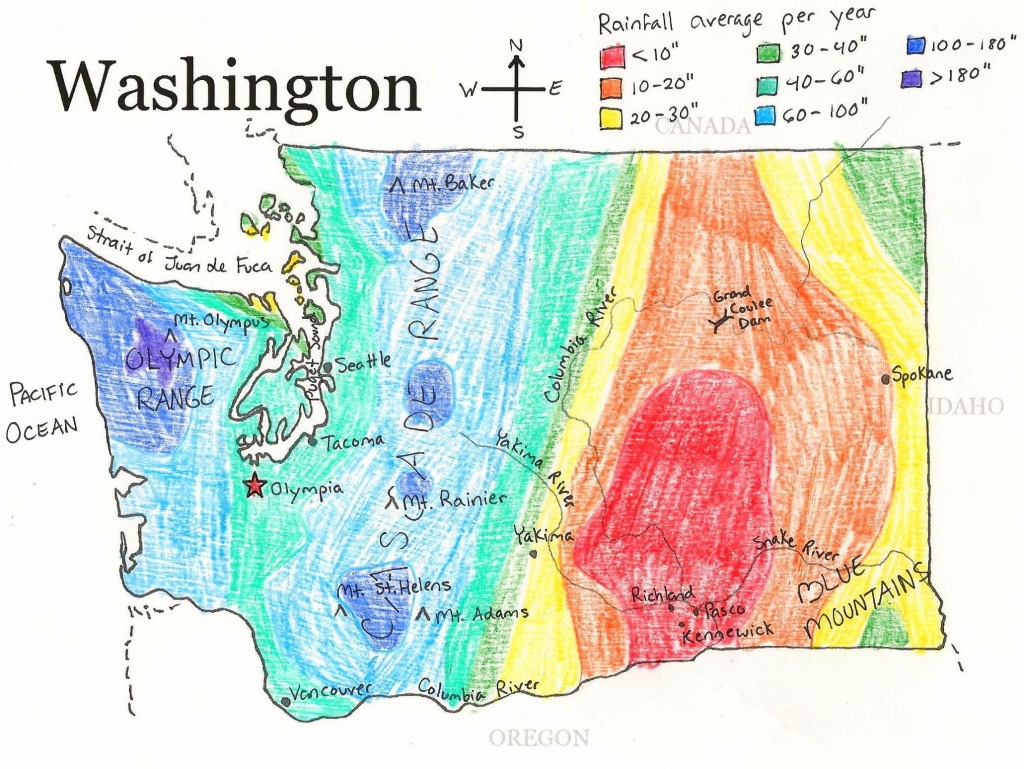 U.s. State Maps | State Studies | Washington State History - Printable Map Of Washington State