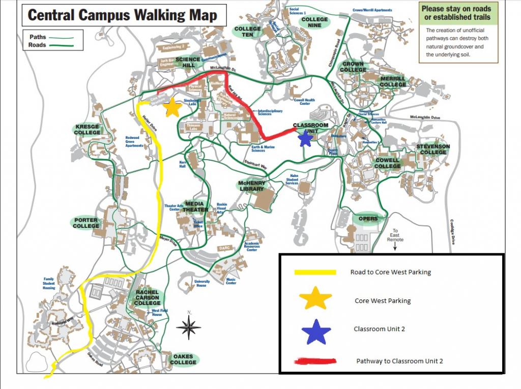 Ucsc Campus Map | Ageorgio - University Of California Santa Cruz Campus Map