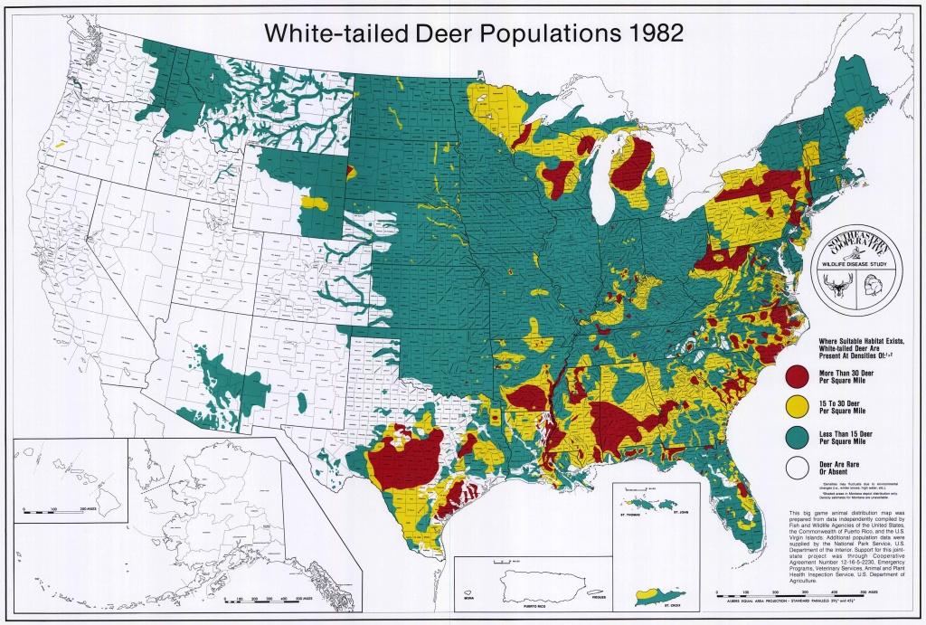 Uga : Scwds - Historic Wildlife Range Maps - Mule Deer Population Map Texas