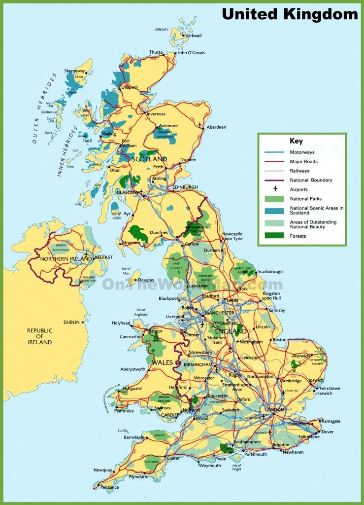 Uk Maps | Maps Of United Kingdom - Free Printable Map Of England