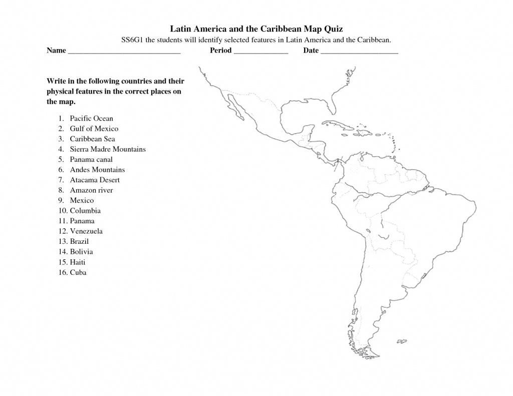 Ultraprecise Latin America Map Study Mountains In Latin America Map - Latin America Map Quiz Printable