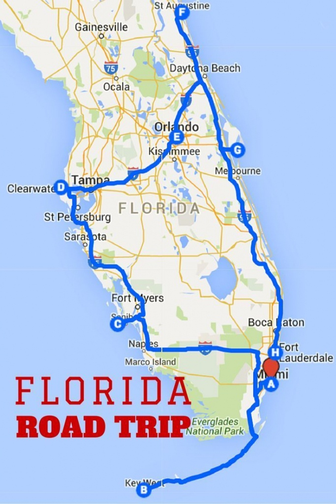 Uncover The Perfect Florida Road Trip   Florida   Road Trip Map - Florida Road Trip Map
