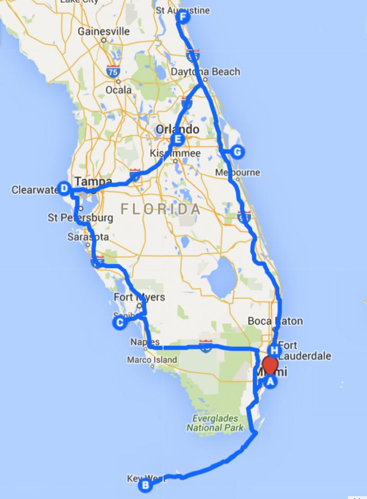 Uncover The Perfect Florida Road Trip | Roadtrip | Road Trip Florida - Florida Vacation Destinations Map