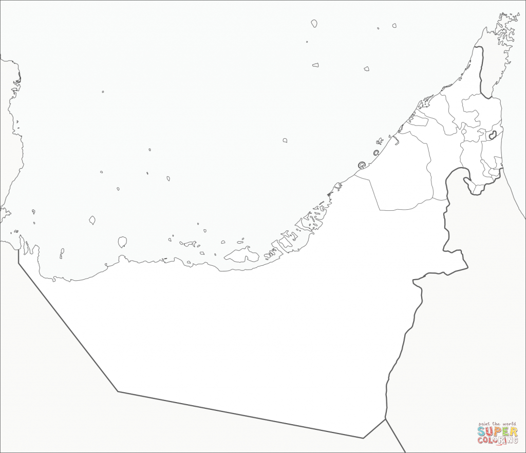 United Arab Emirates Map Coloring Page | Free Printable Coloring Pages - Outline Map Of Uae Printable