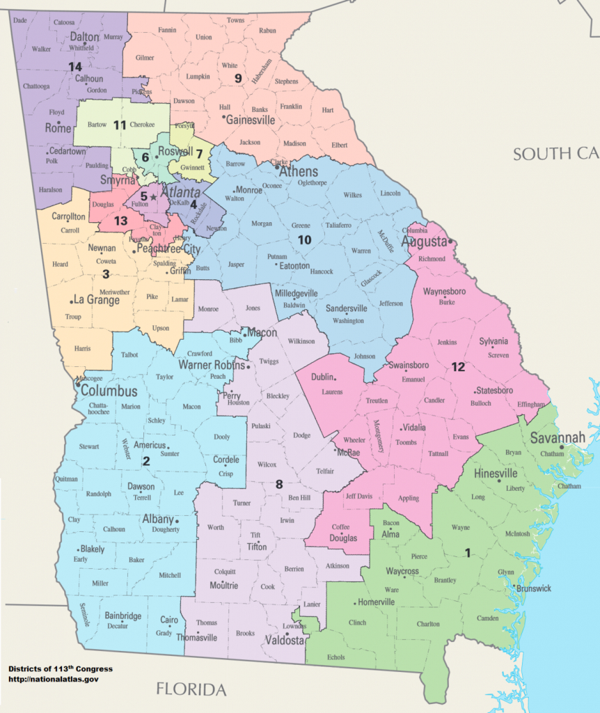 United States Congressional Delegations From Georgia - Wikipedia - Texas 14Th Congressional District Map