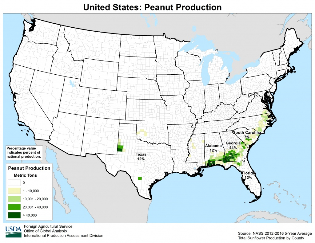 United States - Crop Production Maps - Usda Map Florida