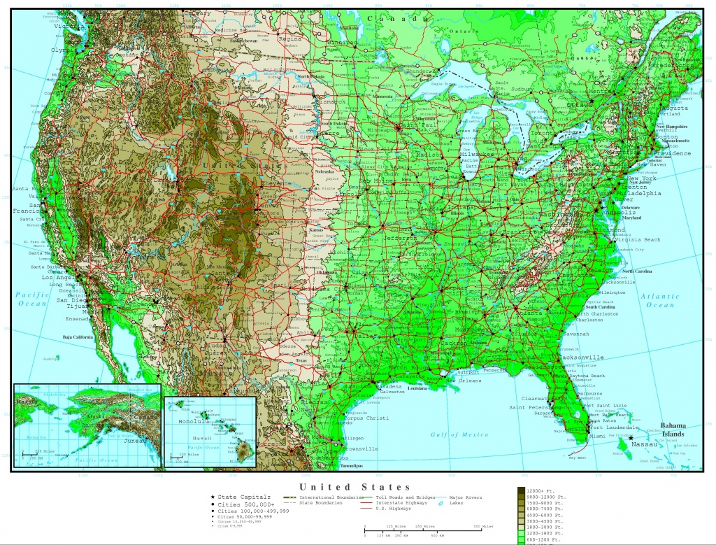 United States Elevation Map - Interactive Elevation Map Of Florida