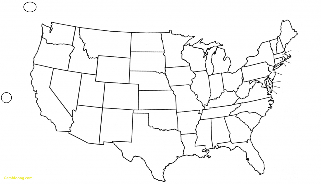 United States Map Blank Outline Fresh Free Printable Us With Cities - Printable Blank Usa Map