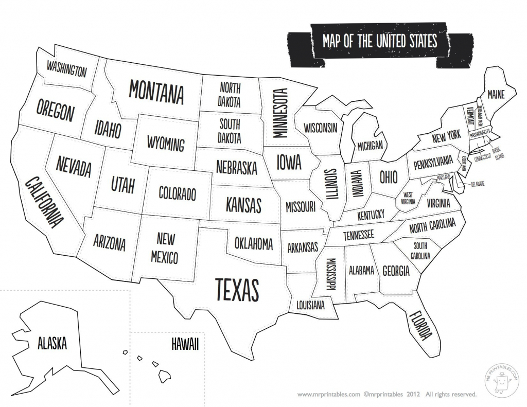 United States Map With State Names And Capitals Printable Save - Printable United States Map With Scale