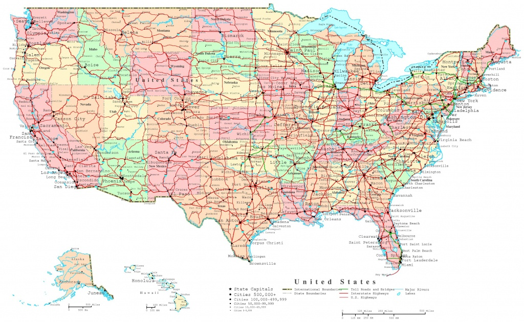 United States Printable Map - Printable State Road Maps