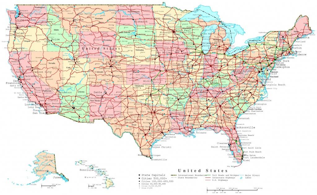 United States Printable Map - United States Travel Map Printable