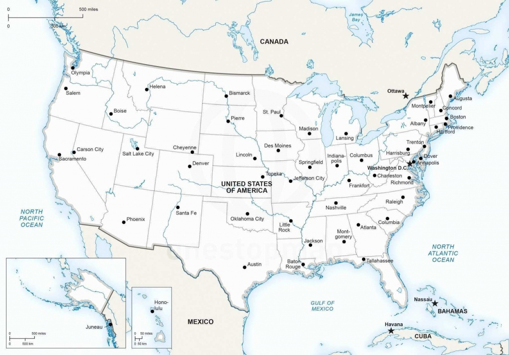 United States Rivers Map - Lgq - Us Rivers Map Printable