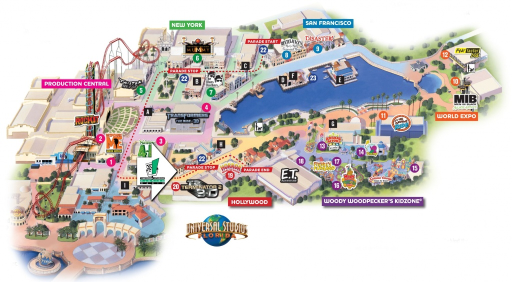 Universal Florida Map And Travel Information | Download Free - Universal Parks Florida Map