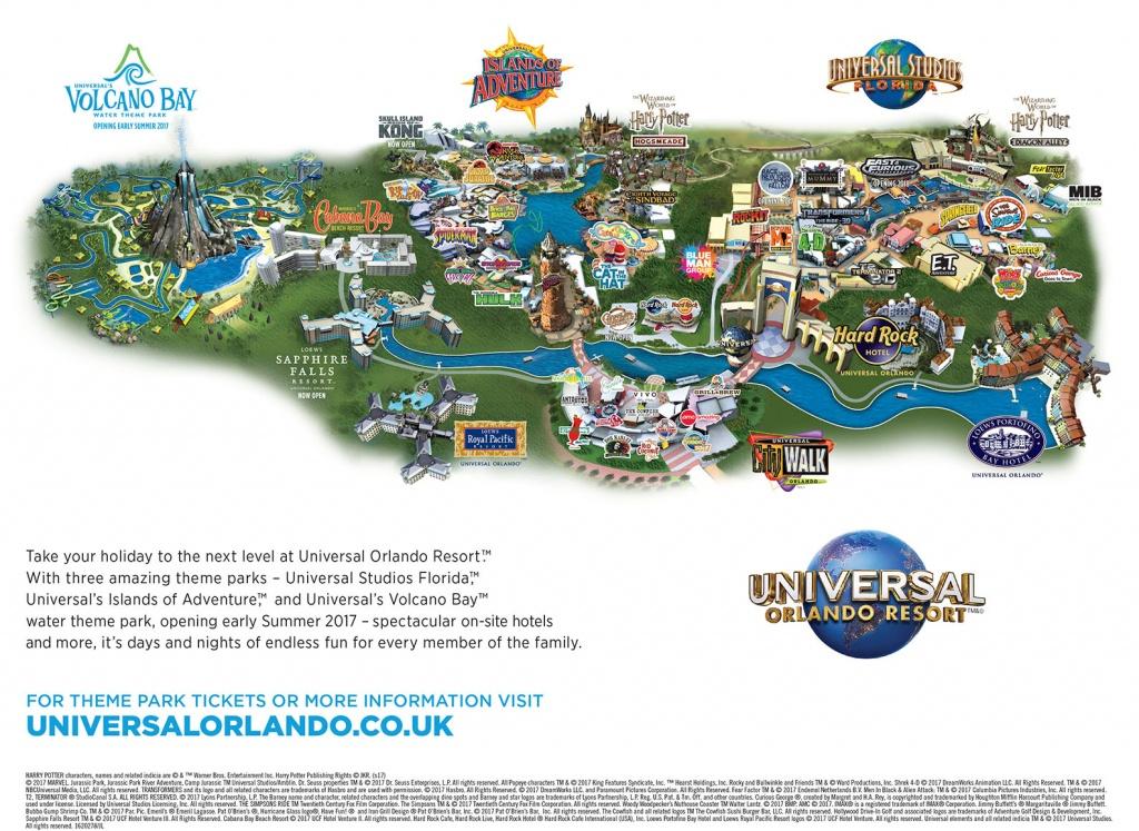 Universal Florida Map And Travel Information | Download Free - Universal Studios Florida Hotel Map