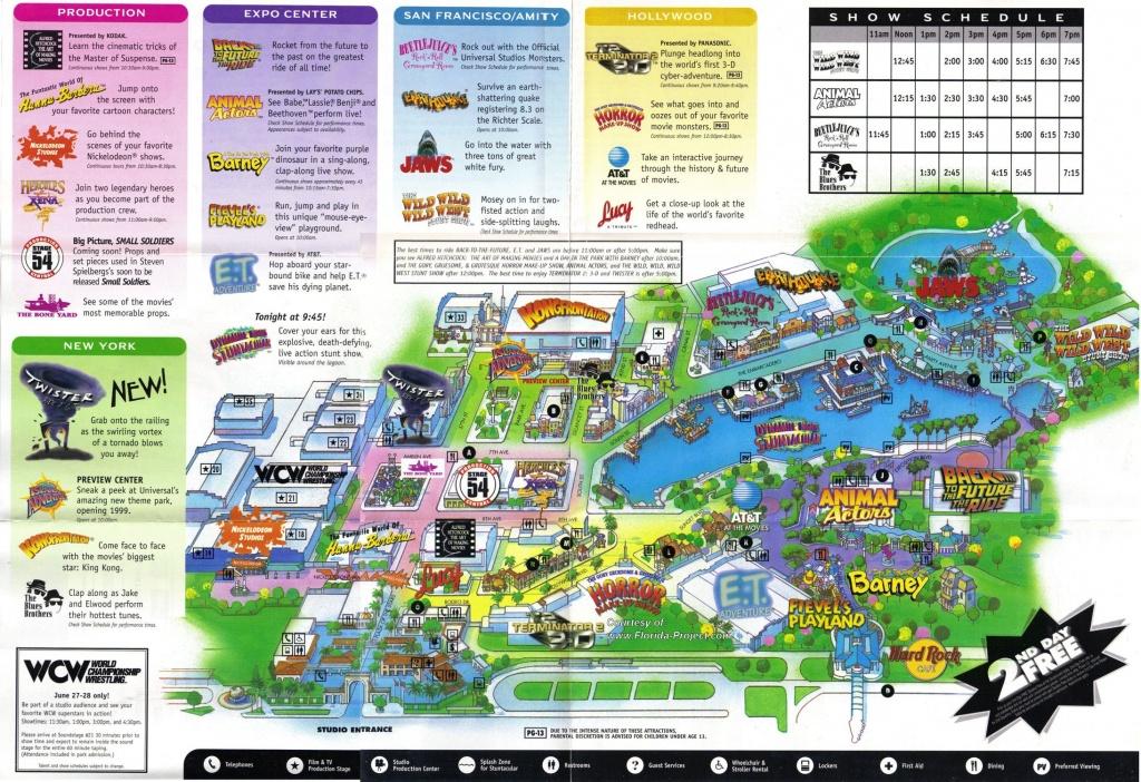 Universal Florida Map And Travel Information | Download Free - Universal Studios Florida Map 2017