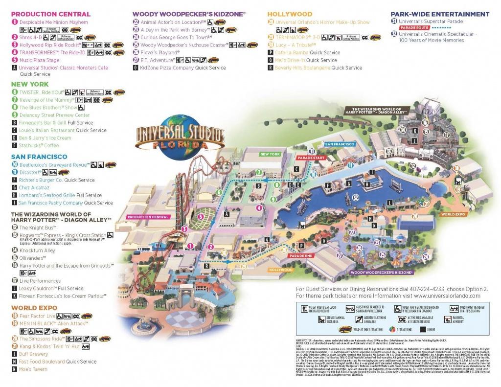 Universal Map | Universal ❤ | Universal Studios Orlando Map - Universal Studios Florida Park Map