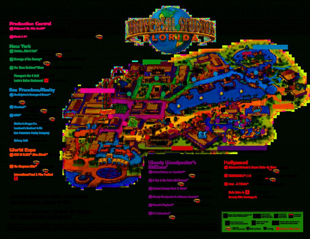 Universal Orlando Park Map 2013 | Orlando Theme Park News: Wdw - Universal Studios Florida Map