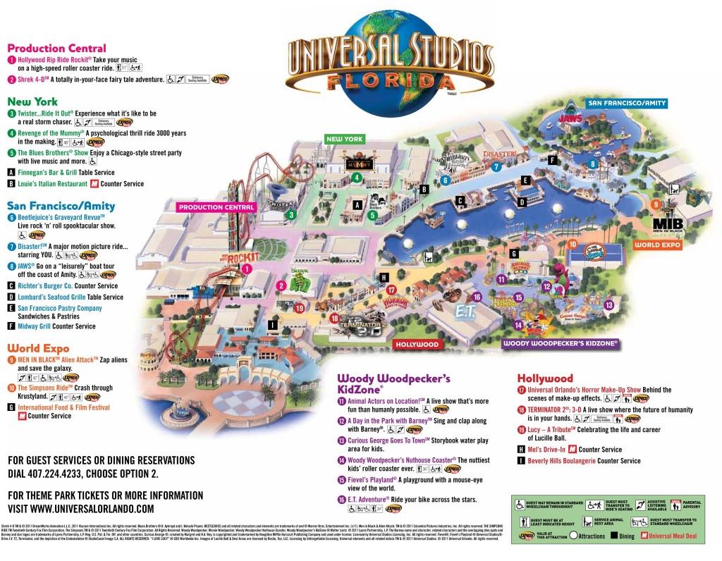 Universal Park Map | Florida Visit Ideas | Universal Studios Florida - Universal Studios Florida Citywalk Map