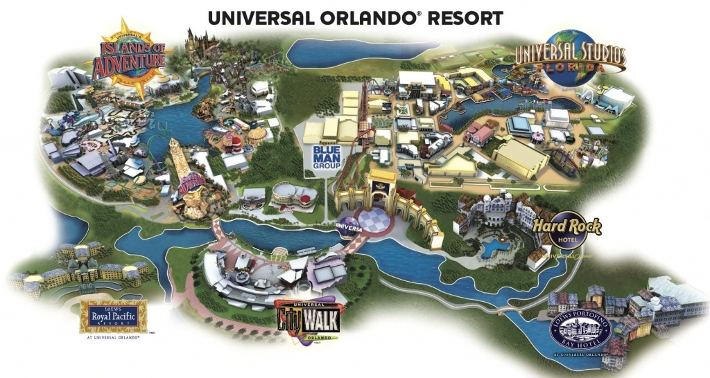 Universal Resort Map. Staying At Hard Rock Hotel Means You're Close - Universal Studios Florida Hotel Map