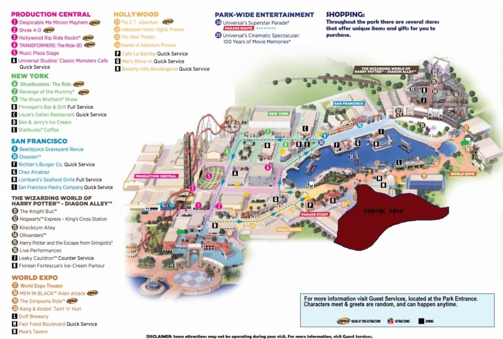 Universal Studios Florida Map 2015 And Travel Information | Download - Universal Studios Florida Hotel Map